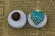 1PCS free shipping Women Contact Lenses Box Sets Cookies +Blue heart-shaped cake Student Style health protection Lens Box