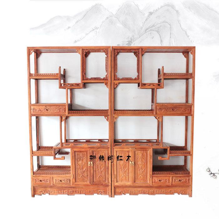 The new edge Court rosewood curio / Shelf wood Chinese antique mahogany wood furniture display shelf(China (Mainland))