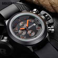 Megir relogio fashion quartz watch man luminous silicone watches men hot new calendar wristwatch for male chronograph sport hour(China (Mainland))