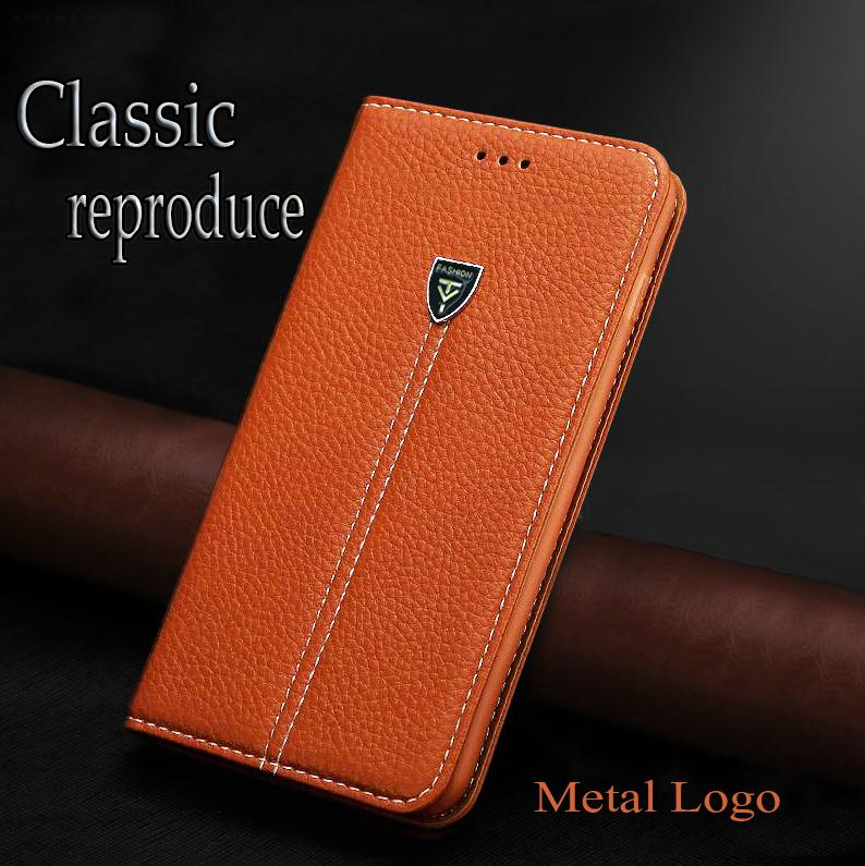 Meizu MX2 case Litchi grain Stylish design metal LOGO visual impact of mobile phone back cover cases flip leather(China (Mainland))
