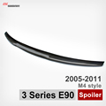 Carbon fiber rear trunk wings spoiler M4 style spoiler for bmw 3 series e90 2005 2011