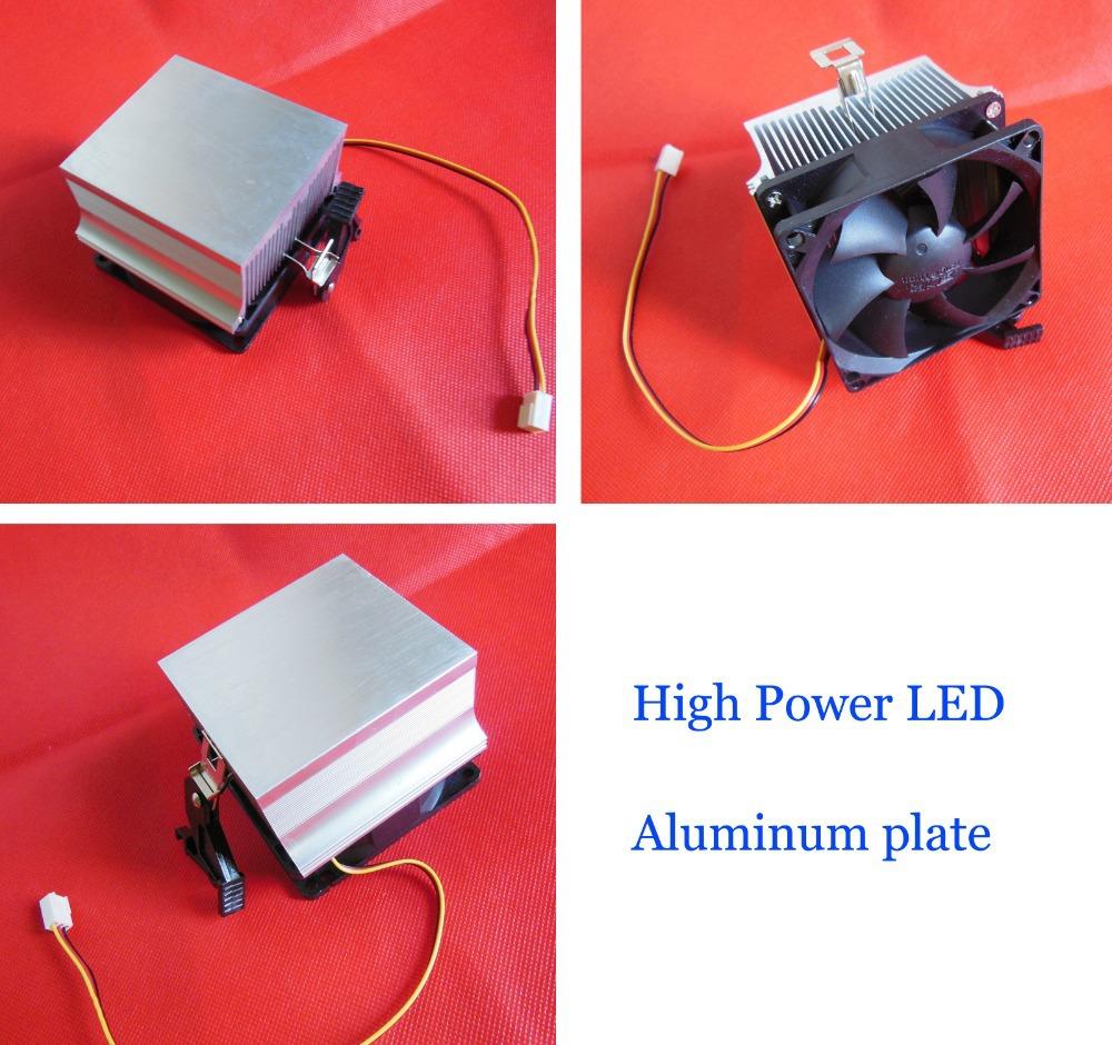 High Power Led Under Cabinet Lighting Diy: Aluminum Plate With 12V Fan For High Power Led Diy