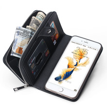 New multi-purpose wallet 2 in 1 Premium Weave Pattern PU Leather Wallet Purse Phone Case for  iPhone 6 and Samsung Black Color(China (Mainland))