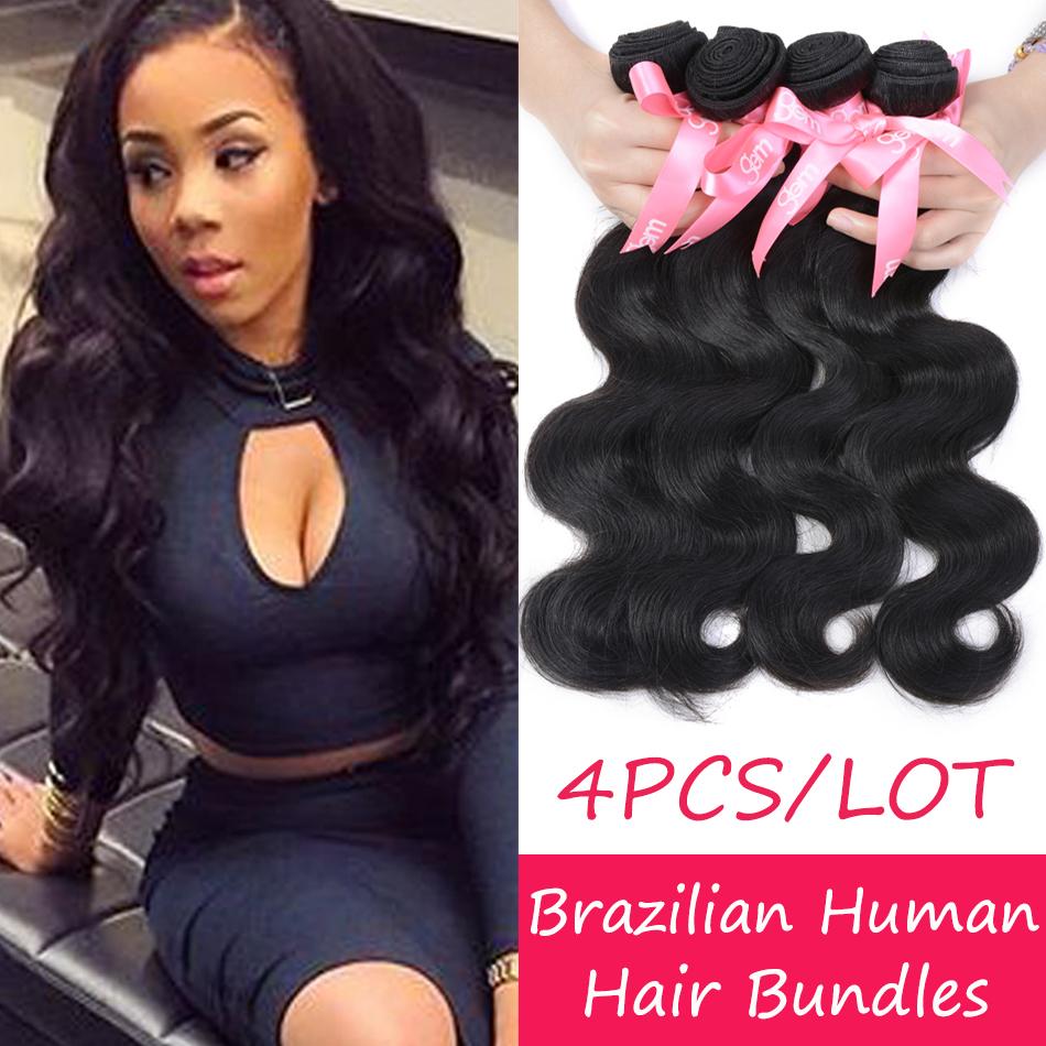 Top Quality Brazilian Body Wave 4 Bundles 7A Brazilian Virgin Hair Body Wave Grace Annabelle Hair Wet Wavy Human Weave Black 1B(China (Mainland))