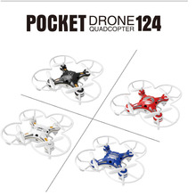 FQ777-124 Pocket Drone 2.4G 4CH 6Axis Gyro RC Helicopter Quadcopter Remote Control Switchable Controller RTF Fun Funny Toys
