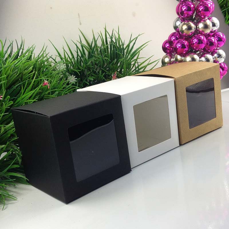 Wholesale 10 10 10cm black window box packing custom gift for Wholesale windows