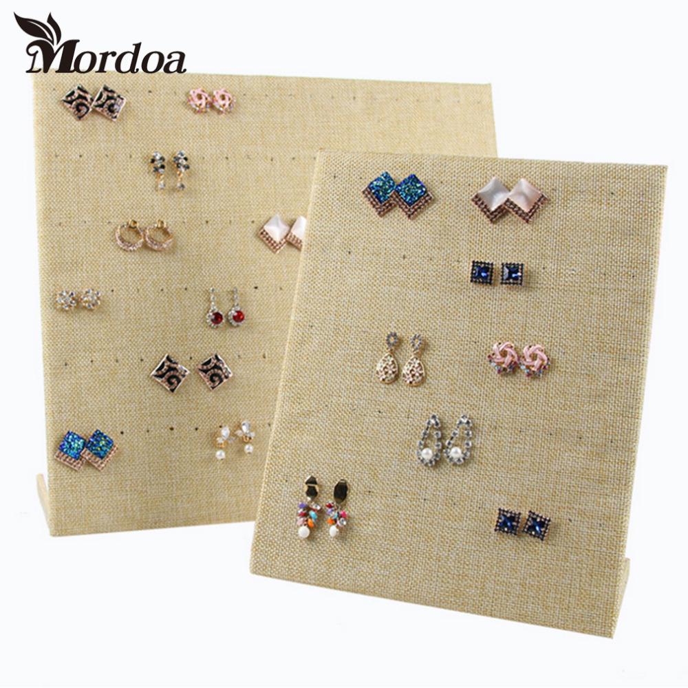 2016 Free Shipping Large Size Display Shelf Board Pin Ear Ring Jewelry Display Stand Earring Holder Jewelry Box Store Shelf(China (Mainland))