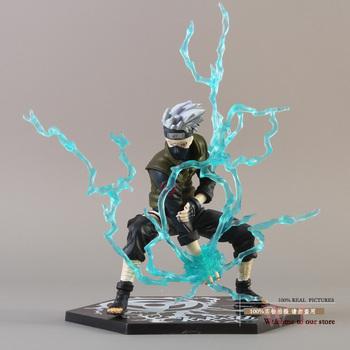 Free Shipping Anime Naruto Ninja Copiador Hatake Kakashi with Lightning Blade PVC Action Figure Collection Model Toy NTFG043