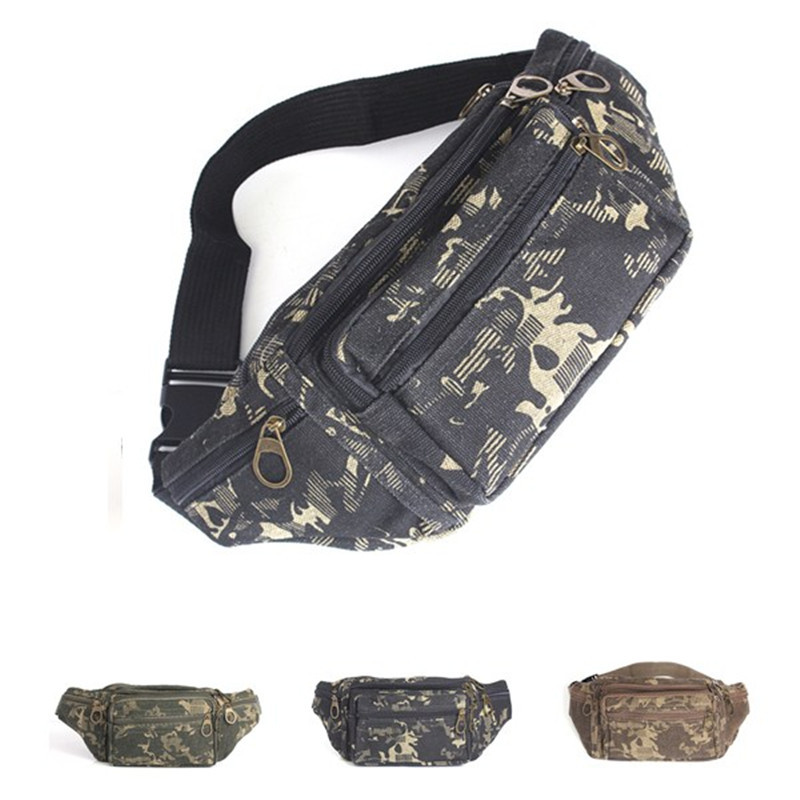 Hot Selling Casual Canvas Multifunctional Camo Fanny Pack Pocket Pouch Travel Mobile phone bag Camping Waist Hip Bum Belt Bags(China (Mainland))