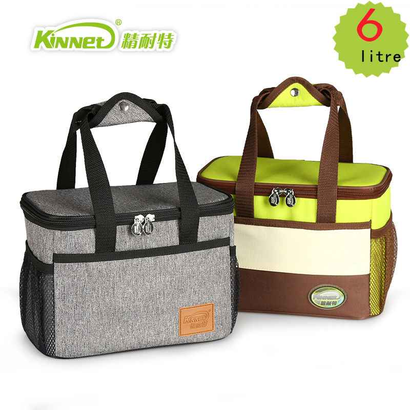 KinNet cooler bag waterproof thermal bag Oxford fabric Aluminum foil lining thickened food refrigeration ice pack 6L lunch bag(China (Mainland))