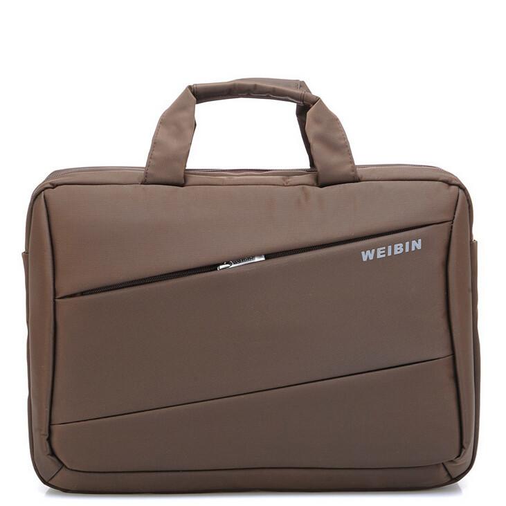Hot cheap double shoulder handbag laptop bag 15 laptop bag notebook business casual bag laptop briefcaseX169(China (Mainland))