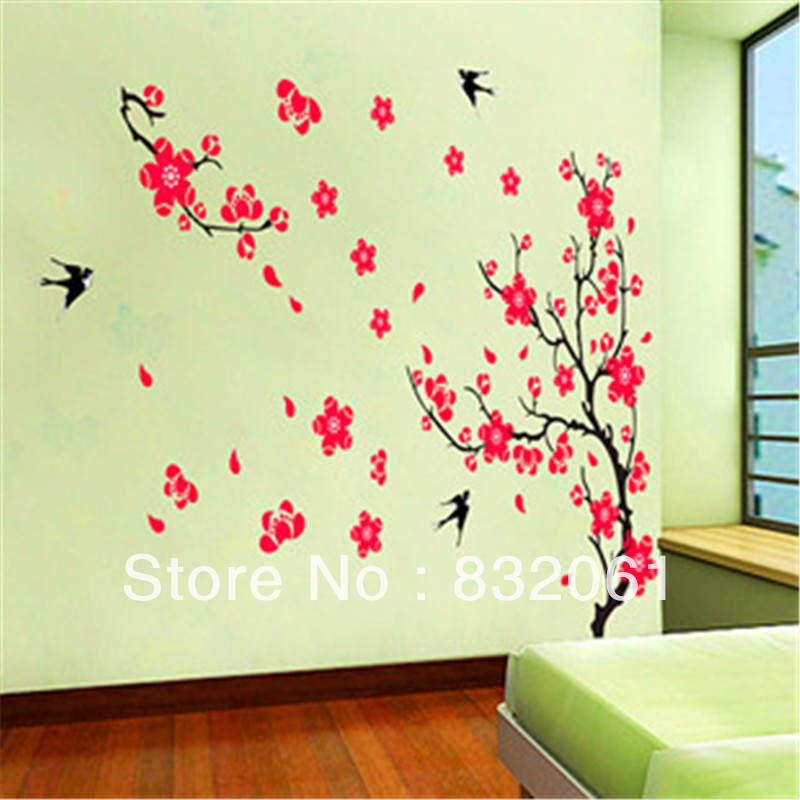 Big size removable wall stickers 60x90cm sheet size free for 8 sheet giant wall mural