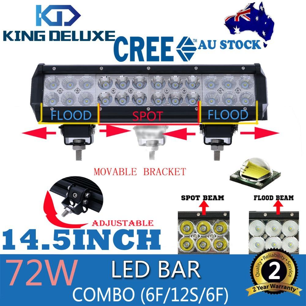 12inch 72W Cree LED Light Bar 72W Spot Flood Combo Beam Offroad Light Bars 12V 24V Work Lamp For ATV SUV 4WD 4X4 Boating Hunting(China (Mainland))