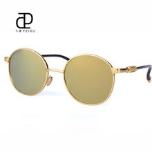 FEIDU Steampunk Sunglasses Round Alloy Frame Mirror Fashion Sunglasses Women Brand Designer Vintage Sunglass Oculos de sol