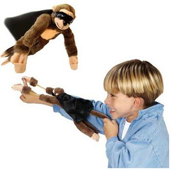 Новый забавный новинка летающая обезьяна крик рогатки плюшевые игрушки для детей подарков 9.84 '' высокий