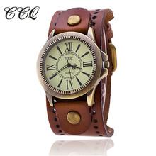 Buy CCQ Luxury Brand Vintage Roman Leather Bracelet Watch Women Antique WristWatch Casual Quartz Watch Ladies Relogio Feminino 1391 for $3.89 in AliExpress store