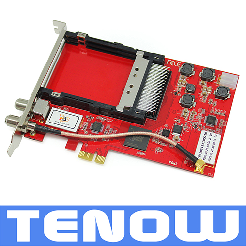 100% TBS Card TBS6910 DVB-S2 Dual Tuner Dual CI PCIe Card,Watching and Recording Satellite TV/PayTV on PC(China (Mainland))