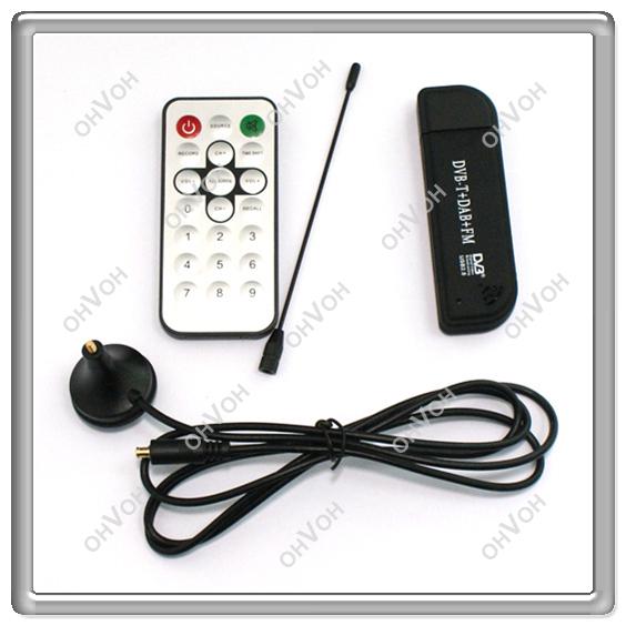 S5V Wholesale RTL- FM+DAB USB DVB-T Dongle DVB-T STICK RTL2832U+R820T Digital TV Receiver tuner STICK MCX EZCAP USB 2.0