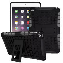 Hybrid Kickstand Case cover for Apple iPad mini 4 mini4 7.9 TPU Shockproof Skip proof Rubberized PC Soft Handfeel with flim KF4(China (Mainland))