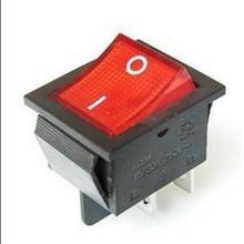 Portable Precision Fine 5PCS Red Light On/off Rocker Switch 250V 15 AMP 125/20A(China (Mainland))