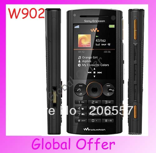 W902 Sony ericsson W902i Original Unlocked mobile phone 5MP Camera Bluetooth FM MP3 cell phone Refurbished 1 year warranty(China (Mainland))
