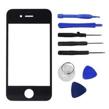 Front Replacement Part Lcd Glass Tools Kit Screen Repair Black  for iPhone 4G(China (Mainland))