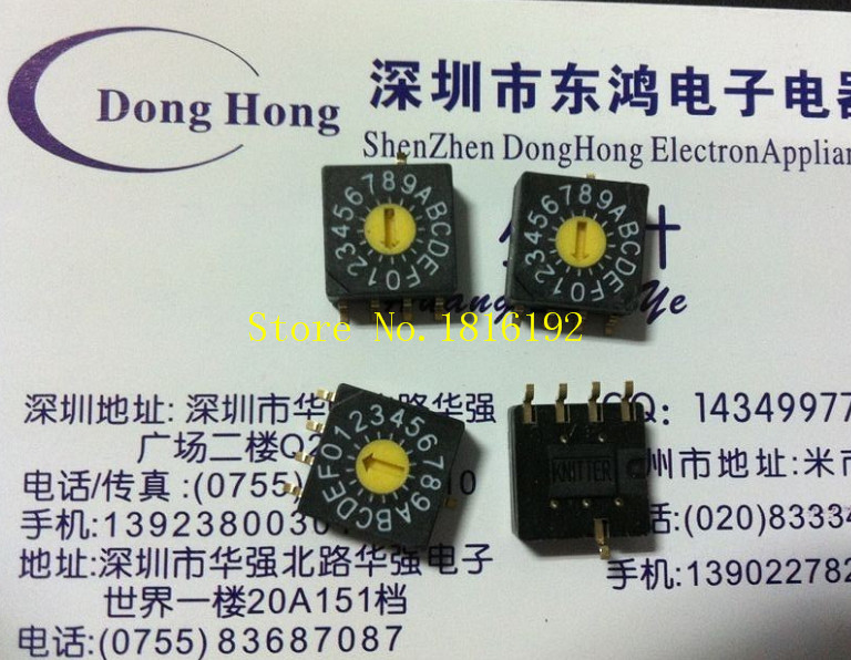 Fuji Japanese FUJISOKU rotary switch 0-F SMD 16 positive code encoder 4: 1 pin(China (Mainland))