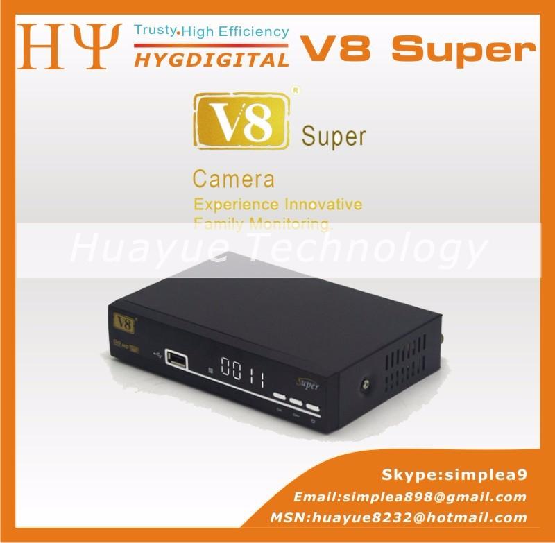 ถูก ของแท้V8ซูเปอร์DVB-S2ทีวีรับสัญญาณดาวเทียม+ 1ชิ้นUSB WifiสนับสนุนPowerVu Biss Key Cccamd Newcamd Youtube Youporn Set Topกล่อง