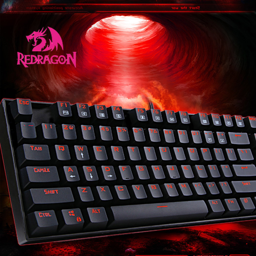 High quality Redragon KUMARA K552 USB wired Professional Gaming Mechanical Metal Keyboard with Backlit 87 Keys to Enjoy Game(China (Mainland))