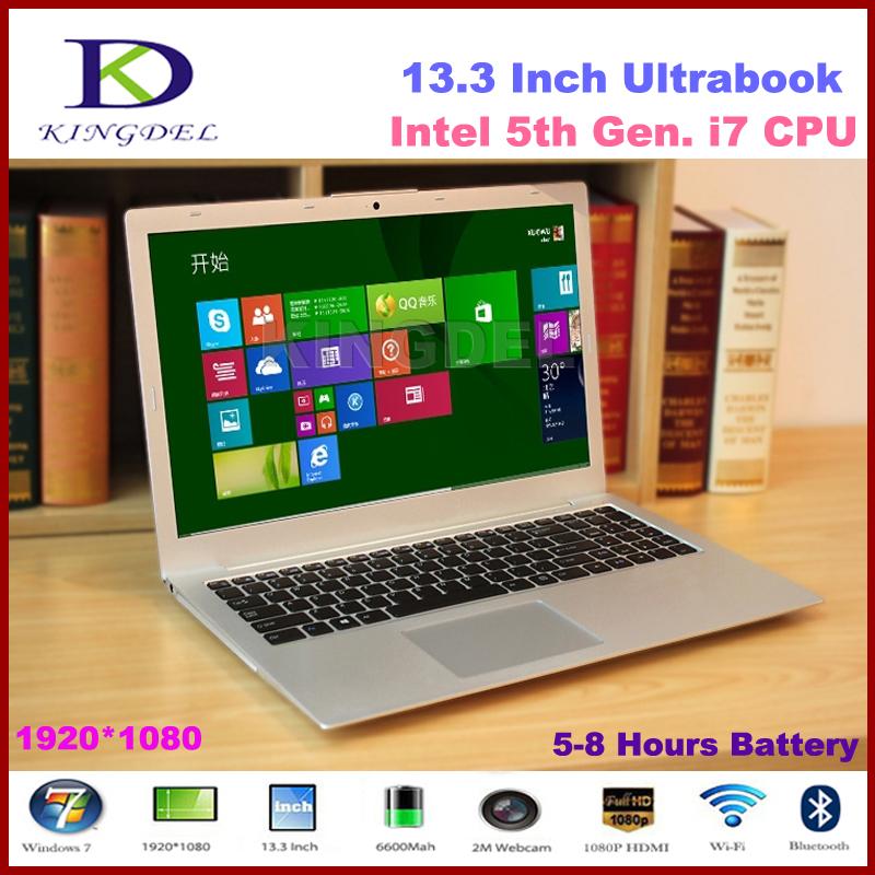 "13.3"" Powerful Intel i7 5th Generation Laptop Computer, Ultrabook, 4GB RAM 64GB SSD, 1920*1080, Full Metal Case, 8 Cell Battery(Hong Kong)"