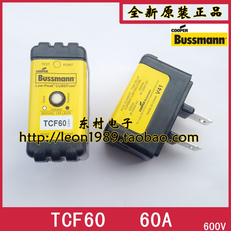 Фотография [SA]Eaton EATON Bussmann Fuses TCF60 60A 600V delayed fuse with instructions