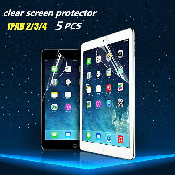 5PCS/LOT For iPad 2 iPad 3 Clear Screen Protector,Front LCD Screen Guard,Protective Film For iPad 2 3 Free Shipping(China (Mainland))