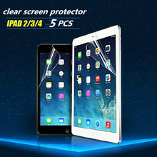 10PCS/LOT For iPad 2 iPad 3 Clear Screen Protector,Front LCD Screen Guard,Protective Film For iPad 2 3 Free Shipping