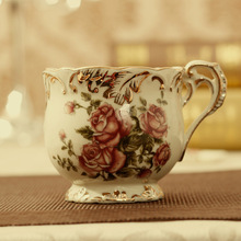 coffee cup set European fashion Coffee cup set porcelain Handmade Gold Wedding Gifts Home Furnishing living