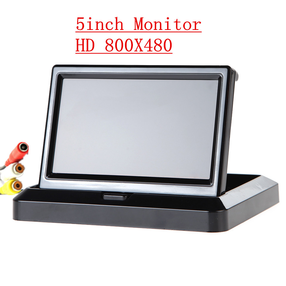 Free Shipping 800X480 TFT 5 Car Rear View System Foldable Folable Car Rearview Monitor In-Dash for Backup Camera DVD VCR Black<br><br>Aliexpress