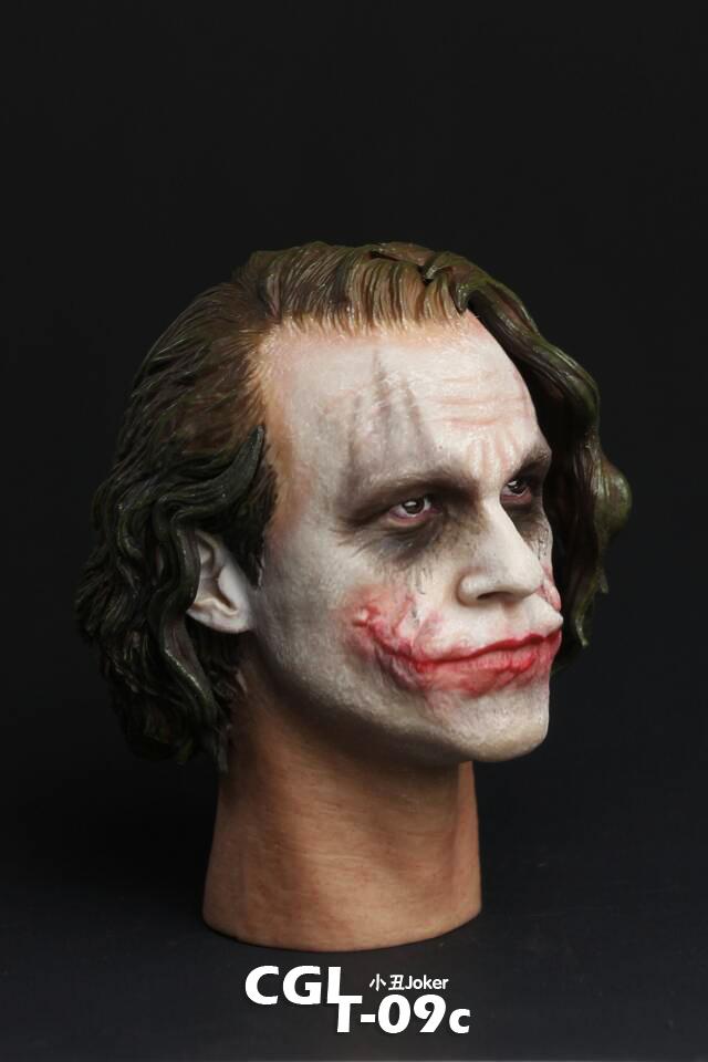 1/6 CGL T-09C Batman Dark Knight Rise Joker Heath Ledger Head DX11 for HT Body