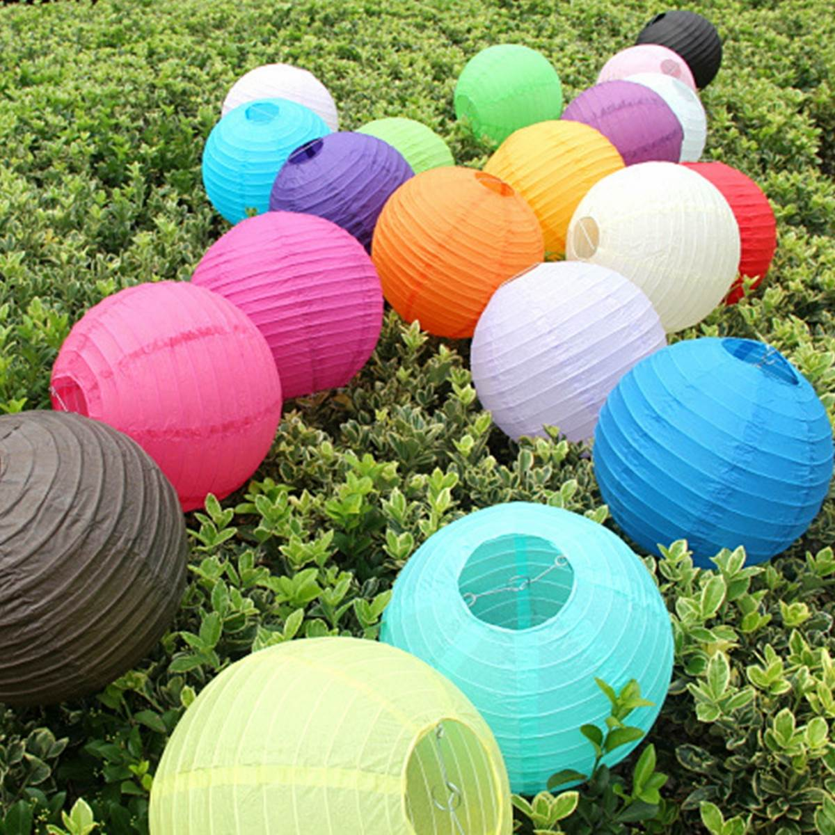 Hot Sale Multicolor 50CM 20 inch Round Chinese Paper Lantern for Birthday Wedding Party Decoration gift craft DIY Balloon(China (Mainland))