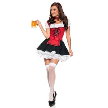 Бар горничной поздно пива костюм девушки баварский сексуальная косплей хэллоуин немецкий хэллоуин фантазии femininas наряд