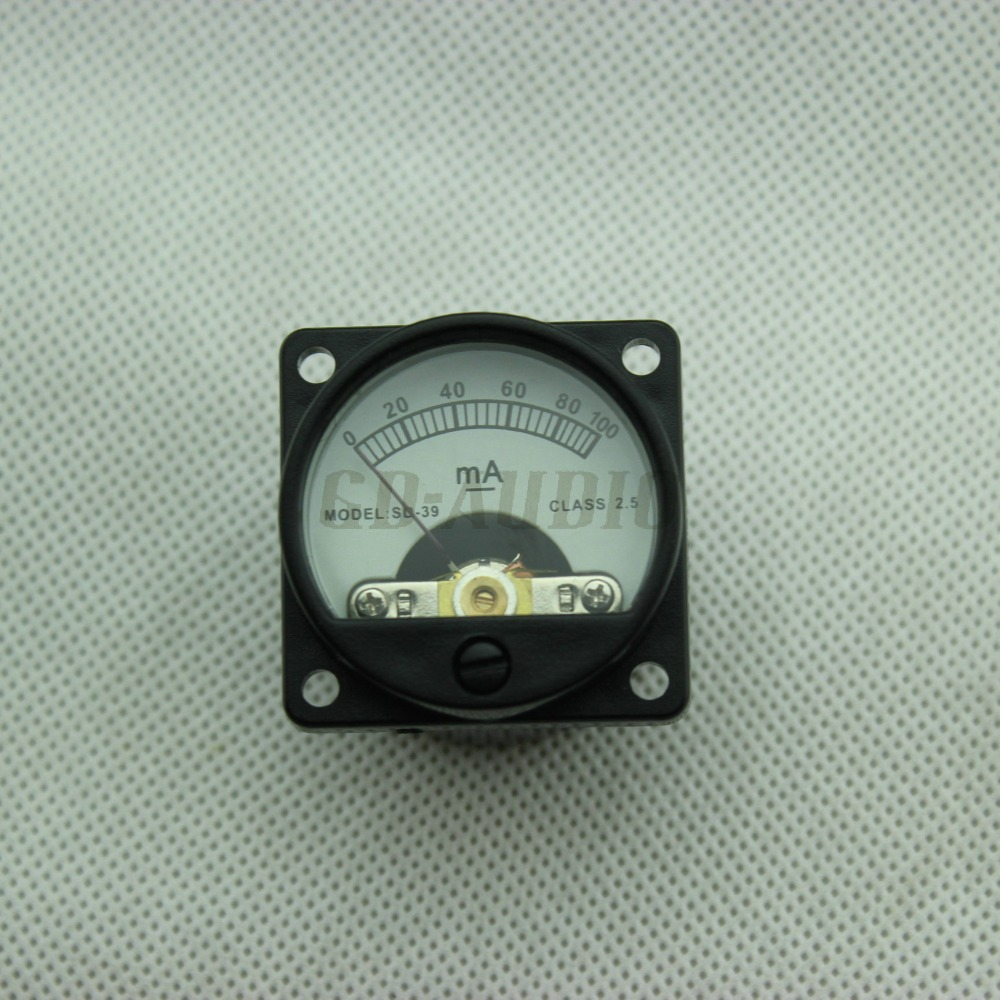 2PC 35mm DC100mA Current Panel Meter With 12V Back Light For CD Player Vintage 300B KT88 EL34 Tube amplifier(China (Mainland))