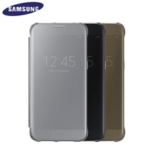 100% Original Samsung S7 Clear View Cover G9300 Case EF-ZG930C for Samsung Galaxy S7(China (Mainland))