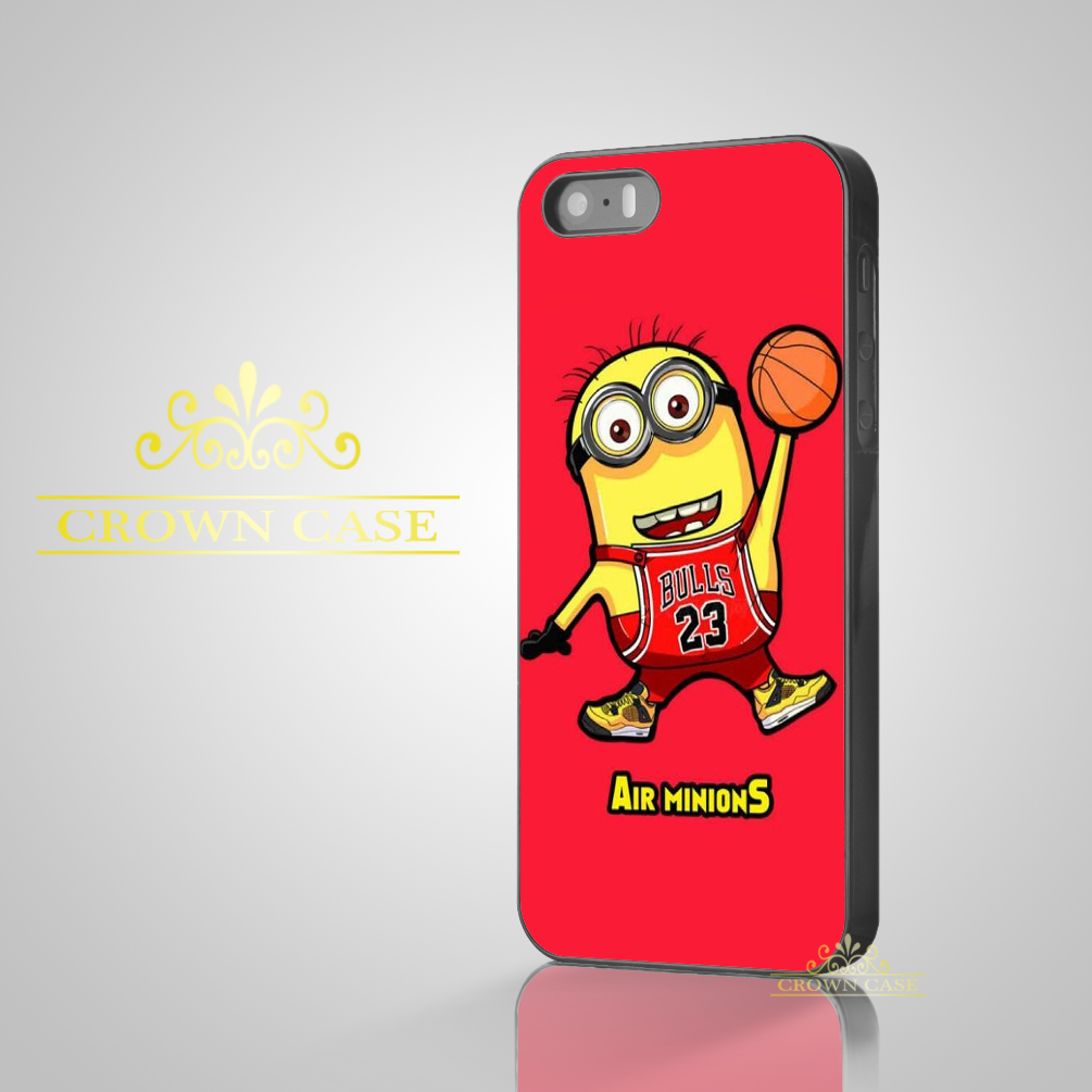 2016 Coque NBA Brand Jordan 23 Yellow Minions Case for iPhone 5S SE 5C 5 4S 4 6 6S Plus Cover for iPod Touch 5 iPod Touch 6 Case