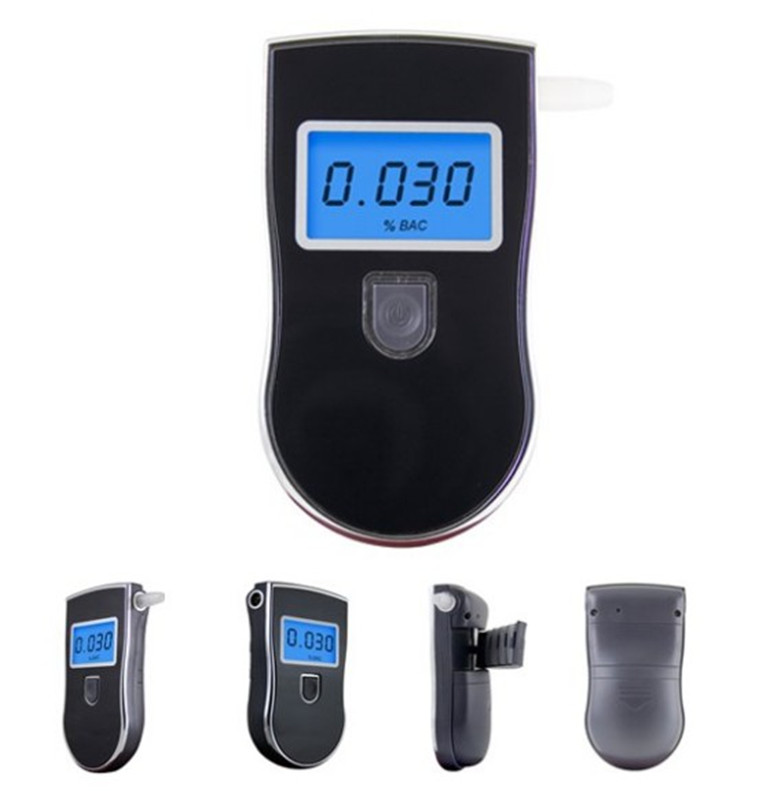 Patent Police Black Digital Alcotest Alcohol Tester Detector Breathalyzer Test(China (Mainland))