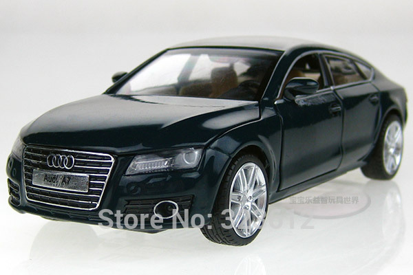 New 1:32 AUDI A7 Alloy Diecast Vehicle Car Model Toy Collection Sound Light Black B2218 - jianghua shop store