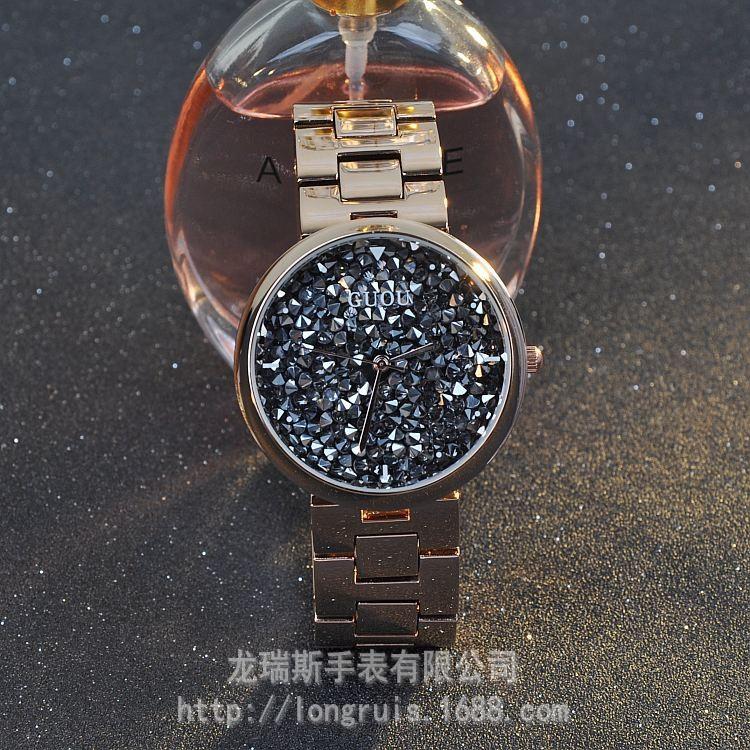 Наручные часы Кварцевые Часы Водонепроницаемые женские Часы Из Нержавеющей Стали Браслет Моды Личности Полный Алмазов Наручные Часы