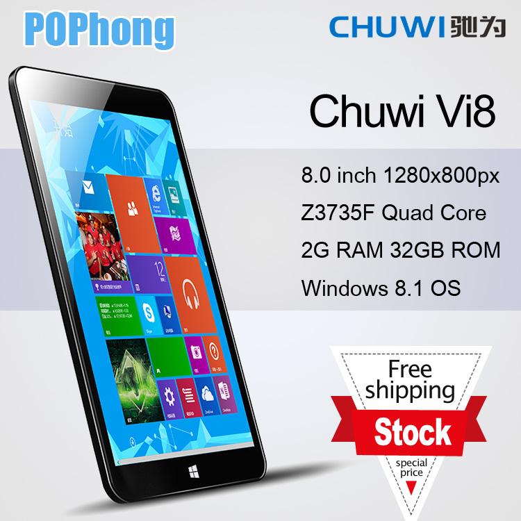 Chuwi Vi8 Dual Boot Tablet PC 8 inch In-tel Bay Trail-T Z3735F 64bit Quad Core 2GB RAM 32GB ROM Android 4.4 Battery 5000mAh(China (Mainland))