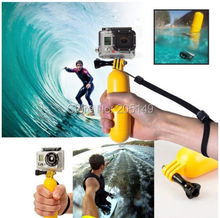 NEW Floating Bobber Hand Grip Handle Mount + Wrist Strap + Screw Accessory for GoPro Hero 1 2 3 3+ Camera Yellow