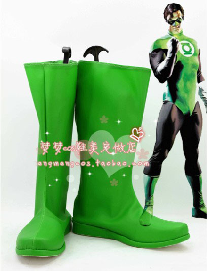 New Arrival DC Comics Green Lantern Cosplay Shoes Boots High Quality PleatherОдежда и ак�е��уары<br><br><br>Aliexpress