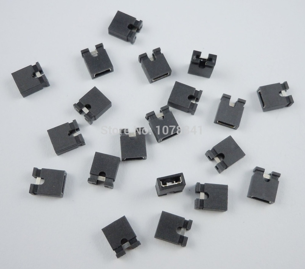 2000 Pcs Per Lot New Black 2.54mm Standard Mini Jumper for 2.54mm Male Pin Header Strip от Aliexpress INT
