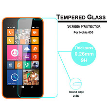 9H 0.3mm 2.5D Anti-Explosion Curve edge Tempered Glass Screen Protector for Nokia lumia 630 635 636 638 n630 Protective film(China (Mainland))