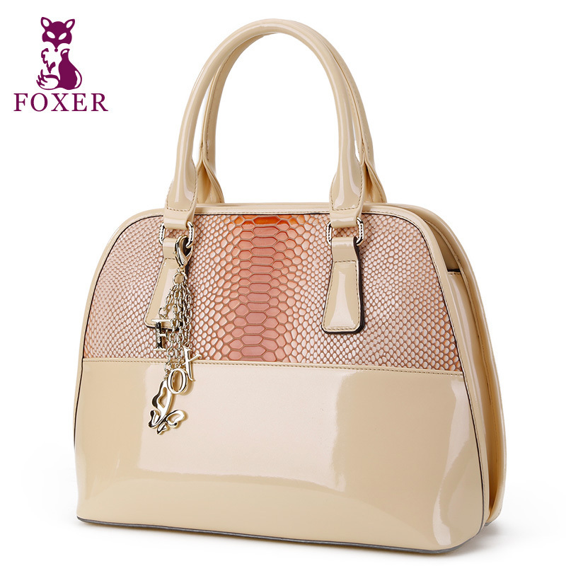 FOXER new 2015 women messenger bags genuine leather handbag fashion wristlets bag vintage tote women shell bag famous brands(China (Mainland))